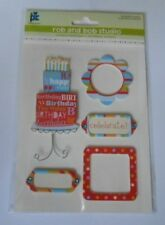 PROVO CRAFT ROB & BOB STUDIO BIRTHDAY EMBELLISHMENT TOPPERS FOR CARDS & CRAFTS