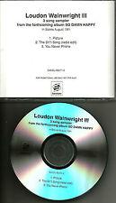 LOUDON WAINWRIGHT & MARTHA 2003 USA 3TRX Sampler w/ RARE EDIT PROMO DJ CD Single