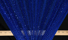 Royal Blue Dot Sequin Fabric - By the Yard