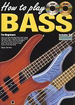 HOW TO PLAY BASS for Beginners Book/CD/Free DVD*