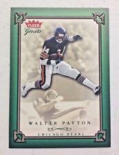 WALTER PAYTON 2004 FLEER GREATS OF THE GAME GREEN INSERT FOOTBALL CARD # 367/500