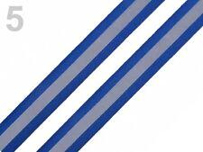 Reflexband Reflektorband blau silber reflektierend Band Zierband  26mm breit