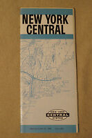 The New York Central, Timetable, Oct. 25, 1959, Form 1001