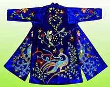 """Wonderful Uzbek Silk Embroidered Robe Chapan """"Mythic Bird"""" V1614"""