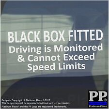 1 x BLACK BOX Fitted-Driving,Speed Monitored-Warning Stickers-Sign-Car Insurance