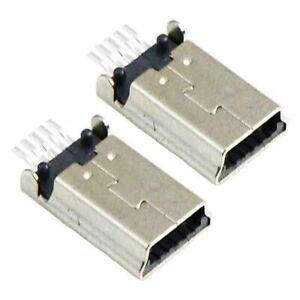 2 x Mini USB Type B Straight Socket PCB