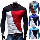 Stylish Luxury Mens Men Casual Long Sleeve Shirt Slim Fit T-Shirt Tops Blouse