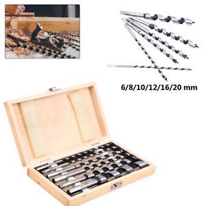 230mm lang Holzbohrer 6-tlg Schlangenbohrer Spiralbohrer Balkenbohrer 6-20mm