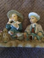 SEASHELLS AND SANDCASTLES FIGURINE by CHRISTINE HAWORTH -THE LEONARDO COLLECTION