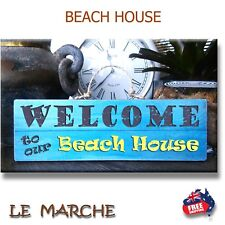 """🐚 """"Welcome to our Beach House"""" - Wooden BEACH Plaque / Sign (FREE POST) 🐚"""