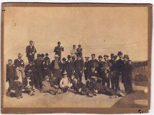 Località sconosciuta Italia Soldati in uniforme Foto originale gelatin 1900c Vi9