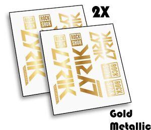 2 Set X Rock Shox LYRIK 2020 ULTIMATE Mountain Bike Cycling Decal Sticker