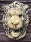 Lion Head wall plaque fountain mask frost proof stone garden ornament 50cm/19