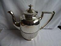 Art Deco Barker Ellis Sheffield Silver Plate EPNS A1 Ribbed Teapot Height 20 cm