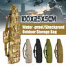 100cm Backpack Tactical Camouflage  Storage Case Bag Hunting Padded Rifle  D