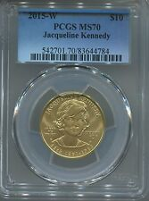 2015W $10 Gold First Spouse Jacqueline Kennedy PCGS MS70 - with ALL Mint Packing