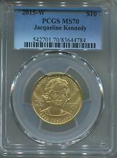 2015 W $10 Gold First Spouse Jacqueline Kennedy PCGS MS70