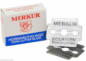 10x Merkur Corn Cutter Razor Blades Double Edge Made In Solingen Germany