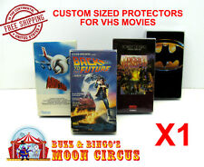 1x VHS MOVIE CLEAR PLASTIC PROTECTIVE BOX PROTECTORS SLEEVE - ARCHIVAL QUALITY