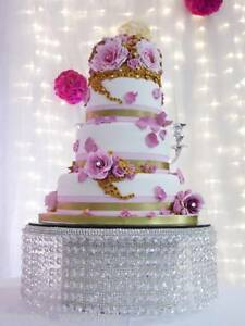 Crystal Diamante cake stand for wedding cake  Tall waterfall design