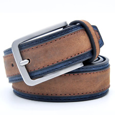 Men's Classic Metal Buckle Patchwork Leather Needlepoint  Luxury fashion Belt