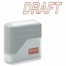 """Sparco Self-inking Stamp - Draft Message Stamp - 1.75"""" X 0.62"""" - Red (SPR60017)"""