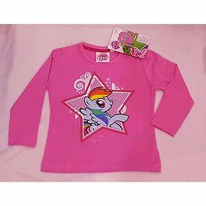 MY LITTLE PONY t-shirt rose 2-3 / 4-5 ou 6-7 ans manches longues Mon petit poney