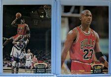 Lot of 2: 1992 92-93 TOPPS STADIUM CLUB Michael Jordan #1 & #210, Members Choice