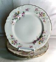 "5 Homer Laughlin Republic Shape Floral Pattern 10 1/4"" Dinner Plates"