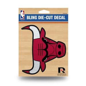 Chicago Bulls Vinyl Glitter Bling Decal [NEW] NBA Car Sticker Emblem Rico