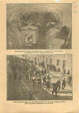 Tunnel  ferroviaire Loetschberg Berne Suisse/Vignerons Troyes 1911 ILLUSTRATION