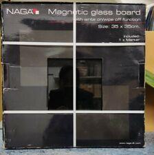Naga Magnetic Glass Writing Board - Black Brand New