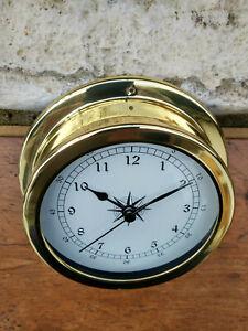Horloge de bateau laiton neuve diametre 14,5cm