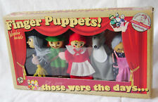 NEW SET OF 5 FAIRYTALE FINGER PUPPETS RED RIDING HOOD WOLF WITCH GRANNY ACK