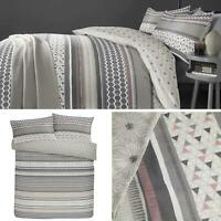 Blush Duvet Covers Geometric Reversible Modern Grey Quilt Cover Bedding Sets