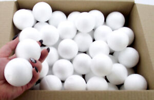 Box of 60 Polystyrene Ball 50mm Christmas bauble craft decorations party