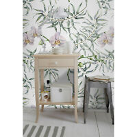 Pink orchids Non-Woven wallpaper Flowers wall Home Mural Watercolor Traditional