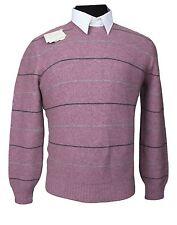 NWT! BRUNELLO CUCINELLI Crewneck Sweater CASHMERE Purple & Gray Size 50 Cardigan