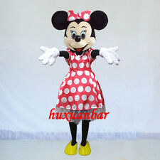 2018【TOP QUALITY】Minnie Mouse Mascot Costume Adult Size Halloween Dress Epe Head