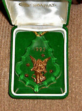 New listing 1993 Vintage Galway Irish Crystal Glass Gold Angel Noel Ornament New In Box