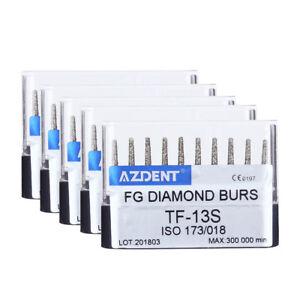 50pcs Dental Diamond High Speed Handpiece Burs TF-13S Super Coarse Taper