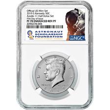 2019-S 50c a prueba de reverso mejorada Kennedy Apollo 11 50th Ann. medio dólar NGC PF
