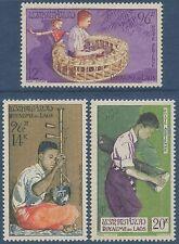 LAOS PA N°24/26* Instruments de musique, Musiciens, TB, 1957,  MH