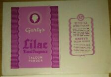 Judaica Palestine Garty's Lilac Talcum Powder Rare Old Label