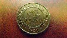 HALF PENNY 1925 AU RARE THIS NICE