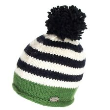 60ff8cd6d32 Kusan Accessories Moss Yarn Bobble Hat with Stripes - Green