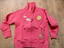 REVIEW schöne Sweatjacke pink tolle Applikationen Gr. 104/110 NEUw. ST817