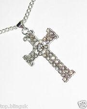 Collar De Cruz, de plata con incrustaciones de cristal Moda Joyería Artículo