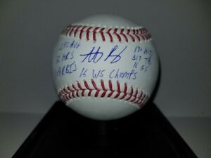 Anthony Rizzo Chicago Cubs Signed Baseball 2016 MLB World Series Champions