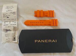 Panerai Orange Rubber Watch Strap - 26MM